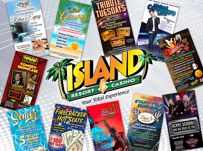 Island Resort & Casino Signs Montage